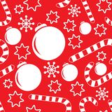 Seamless pattern with christmas decorations Stock Images