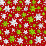 Seamless pattern with Christmas decorations Stock Photos