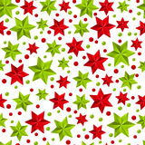 Seamless pattern with Christmas decorations Royalty Free Stock Photos