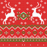 Seamless Pattern with Christmas Deers on a Stock Image