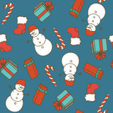 Seamless pattern with Christmas elements Royalty Free Stock Images