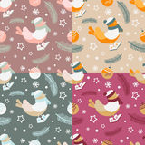 Seamless-pattern-with-Christmas-elements Royalty Free Stock Images