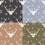 Seamless-pattern-with-Christmas-elements Stock Images