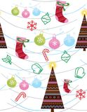 Seamless pattern with christmas elements. Vector Stock Image