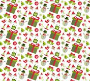 Seamless pattern with Christmas elements Royalty Free Stock Image