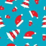 Seamless pattern with Christmas elements. Vector illustration Royalty Free Stock Photography