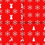 Seamless pattern with Christmas elements. Xmas and winter holidays royalty free illustration