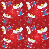 Seamless pattern christmas fairy Stock Photo