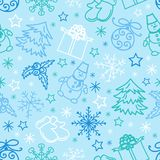 Seamless pattern Christmas Figures. This is file of EPS10 format Stock Images