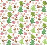 Christmas pattern seamless vector illustration