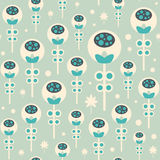 Seamless pattern with Christmas flowers on pastel background. Stock Image
