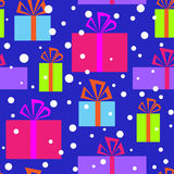 Seamless pattern with Christmas gifts Stock Photography
