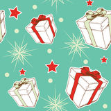 Seamless pattern with Christmas gifts Royalty Free Stock Photo