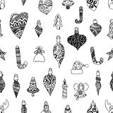 Seamless pattern with christmas Royalty Free Stock Image