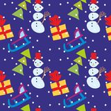 Seamless pattern christmas items Royalty Free Stock Image