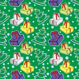 Seamless pattern with christmas items Stock Image