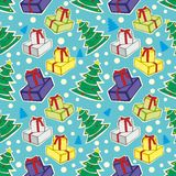 Seamless pattern with christmas items Stock Images