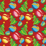 Seamless pattern with christmas items Stock Photos