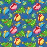 Seamless pattern with christmas items Stock Photography