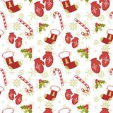 Seamless pattern with Christmas mittens Royalty Free Stock Images