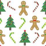 Seamless pattern, Christmas new year. Stock Image