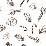 Seamless pattern of Christmas and New year objects Stock Photography