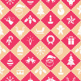 Seamless Pattern : Christmas Objects royalty free illustration