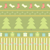Seamless pattern with christmas ornament Royalty Free Stock Images