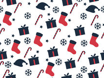Seamless pattern. Christmas pattern. Festive pattern for wrapping paper. Royalty Free Stock Image