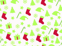 Seamless pattern. Christmas pattern with gift boxes, Christmas trees and stars. Royalty Free Stock Photos