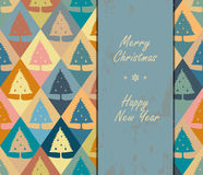Seamless pattern of Christmas pines. Royalty Free Stock Photography