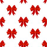Red Ribbon Flat Icon Seamless Pattern Royalty Free Stock Photos