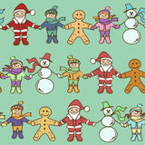 Seamless pattern of Christmas roundelay Royalty Free Stock Photo