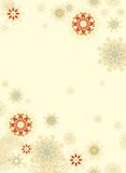 Seamless pattern with christmas  snowflakes Royalty Free Stock Images