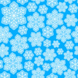Seamless pattern with Christmas snowflakes. Seamless pattern with blue Christmas snowflakes Stock Images