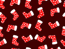 Seamless pattern with christmas socks. Vector Stock Image