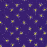 Seamless pattern with christmas sparklers Royalty Free Stock Photos
