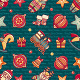 Seamless pattern. Christmas style. Christmas hand drawn design elements. Best for greeting cards, invitations Royalty Free Stock Images
