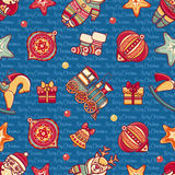 Seamless pattern. Christmas style. Christmas hand drawn design elements. Best for greeting cards, invitations Royalty Free Stock Image