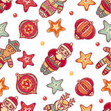 Seamless pattern. Christmas style Royalty Free Stock Photography