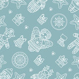 Seamless pattern. Christmas style. Christmas hand drawn design elements. Best for greeting cards, invitations Royalty Free Stock Photography