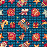 Seamless pattern. Christmas style. Stock Images