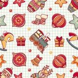 Seamless pattern. Christmas style. Royalty Free Stock Photo
