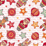 Seamless pattern. Christmas style. Stock Photos
