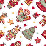 Seamless pattern. Christmas Royalty Free Stock Photo