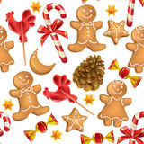 Seamless pattern of Christmas sweets Royalty Free Stock Photo