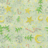 Seamless pattern christmas symbols Royalty Free Stock Photos