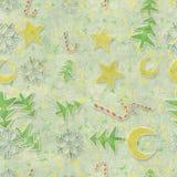 Seamless pattern christmas symbols Royalty Free Stock Photos