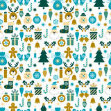Seamless pattern Christmas symbols Royalty Free Stock Image