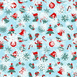 Seamless pattern with Christmas symbols Royalty Free Stock Photo